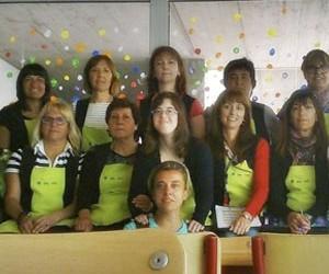 Laura Mitjans a les seves pràctiques a Down Tarragona
