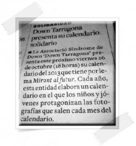down tarragona presenta su calendario solidario