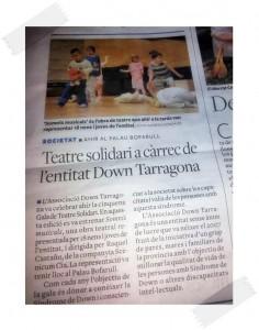 """""""Teatre solidari a càrrec de l'entitat Down Tarragona"""""""
