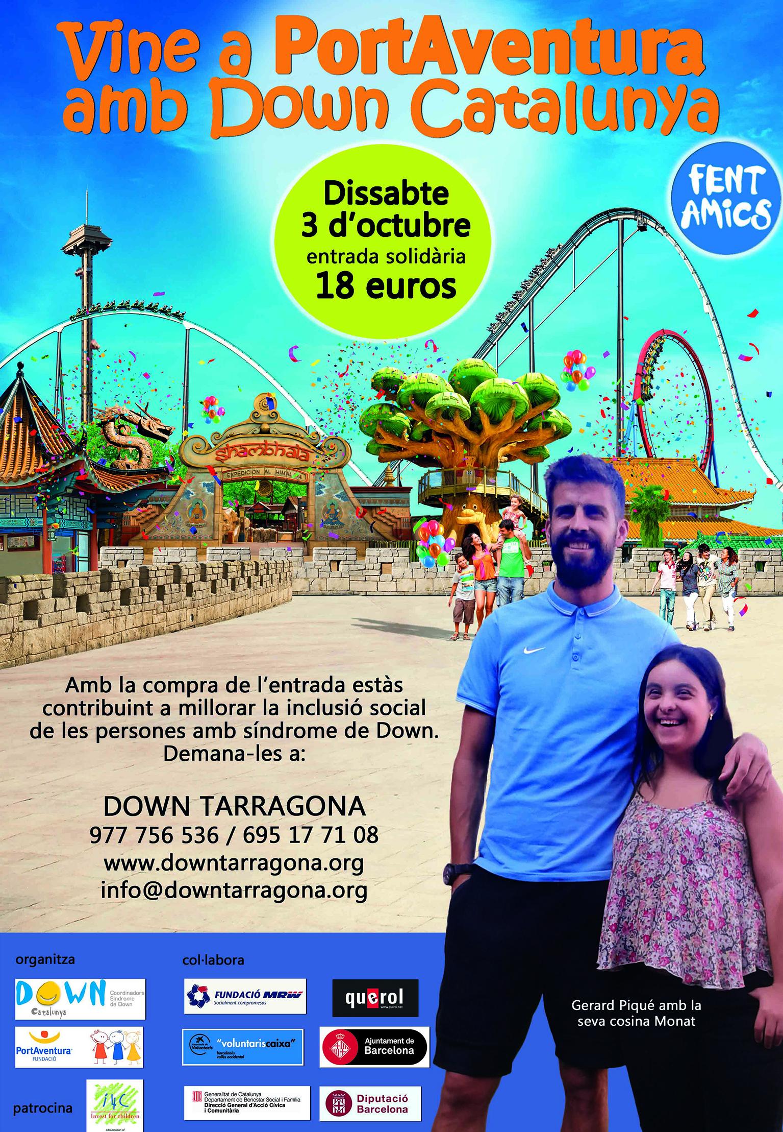 """Port Aventura """"Fent amics amb Down Catalunya"""""""
