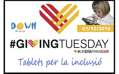 """Giving Tuesday, """"tablets per la inclusió"""""""