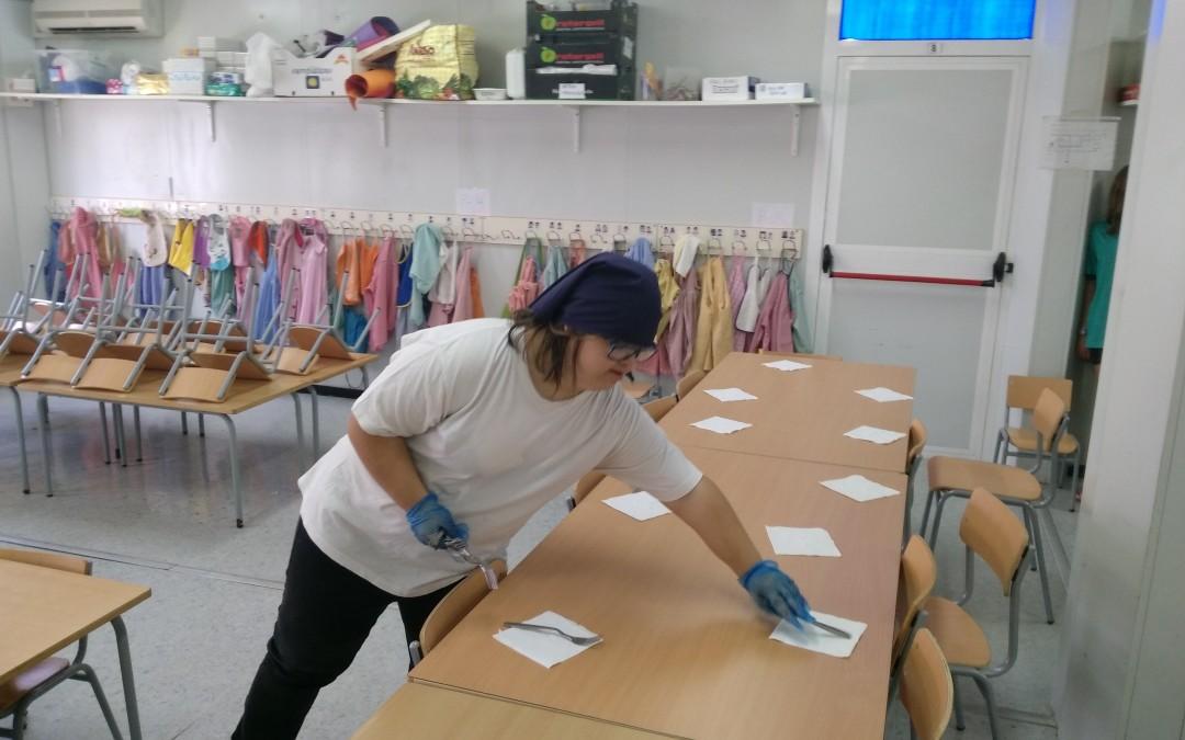 Marta Álvarez inicia pràctiques a l'Escola Els Ganxets