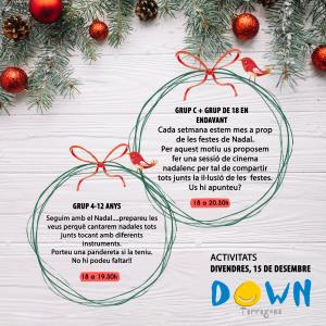 Activitats, divendres 15 de desembre
