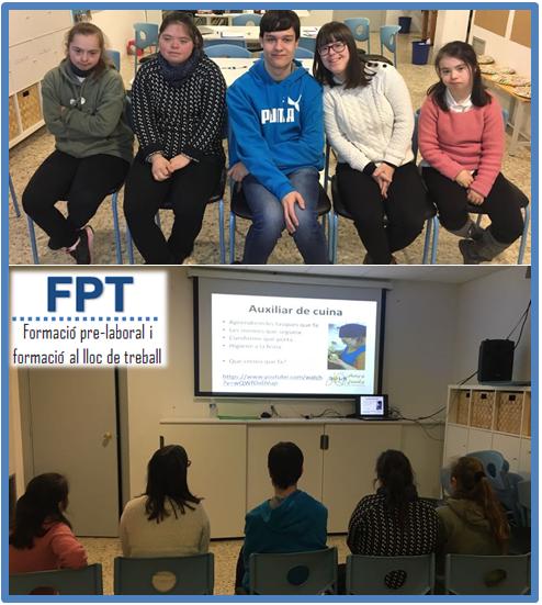5 joves inicien un curs de formació FPT