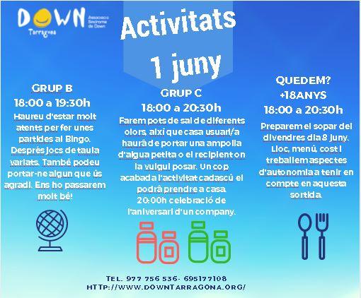 ACTIVITATS 1 JUNY