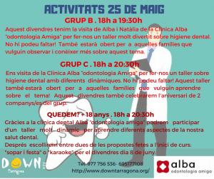 ACTIVITATS 25  DE MAIG