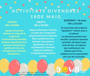 ACTIVITATS 18 DE MAIG