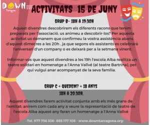 ACTIVITATS 15 JUNY