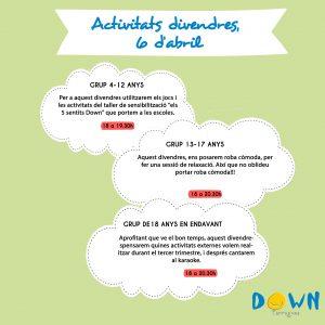 Activitats 6 abril