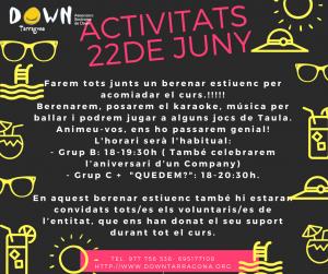 ACTIVITATS 22 JUNY