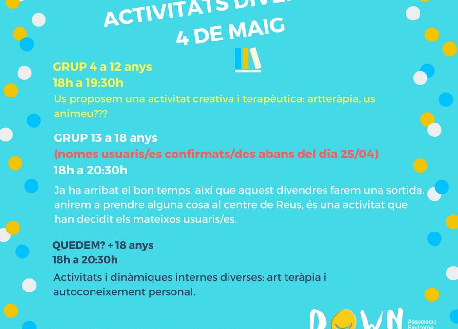 Actividades 4 MAYO