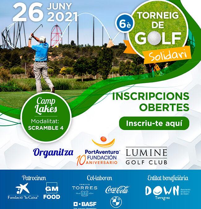 Inscripcions 6è Torneig de Golf Fundació PortAventura a favor de Down Tarragona
